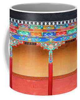 Coffee Mug featuring the photograph Gallery In A Buddhist Monastery by Alexey Stiop