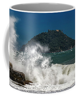 Coffee Mug featuring the photograph Gallinara Island Seastorm - Mareggiata All'isola Gallinara by Enrico Pelos
