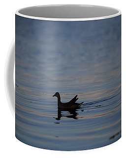 Gallinule Silhouette Lake Okeechobee Coffee Mug by Christopher L Thomley
