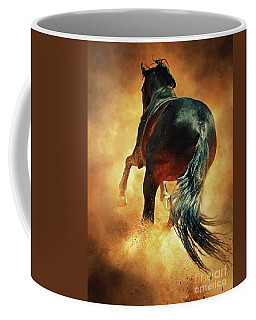 Galloping Horse In Fire Dust Coffee Mug