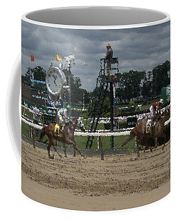 Coffee Mug featuring the digital art Galloping Out Painting by  Newwwman