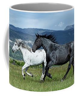 Galloping Through The Scenery In Wyoming Coffee Mug