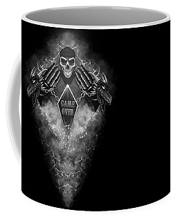 Coffee Mug featuring the digital art Game Over by Raphael Lopez