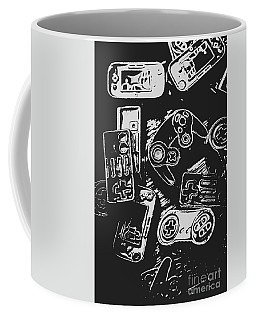 Game Play In Blocks And Lines Coffee Mug