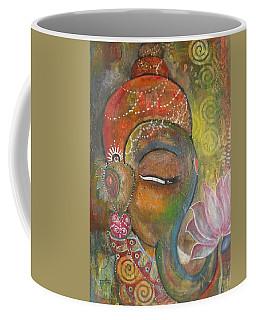Ganesha With A Pink Lotus Coffee Mug