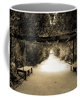 Garden Arbor In Sepia Coffee Mug