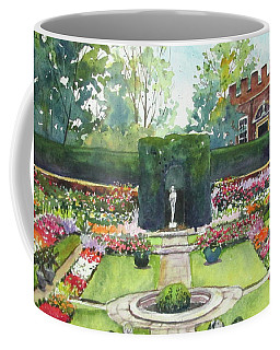Coffee Mug featuring the painting Garden At Hampton Court Palace by Susan Herbst