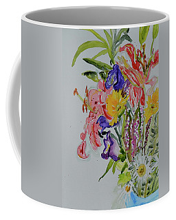 Coffee Mug featuring the painting Garden Bouquet by Beverley Harper Tinsley