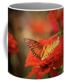 Coffee Mug featuring the photograph Garden Butterfly by Donna G Smith