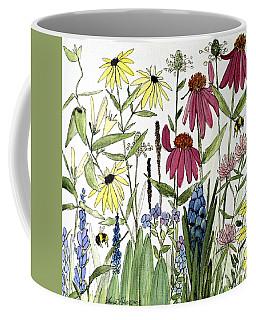 Garden Flowers With Bees Coffee Mug