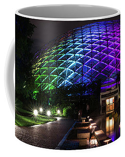 Coffee Mug featuring the photograph Garden Globe At Night by Andrea Silies