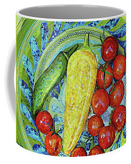Coffee Mug featuring the mixed media Garden Harvest by Shawna Rowe