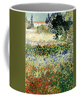 Coffee Mug featuring the painting Garden In Bloom by Van Gogh