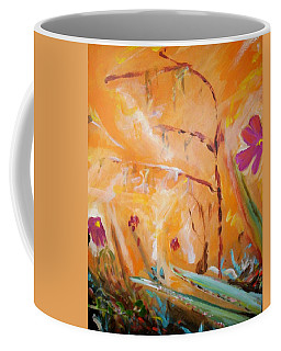 Coffee Mug featuring the painting Garden Moment by Winsome Gunning