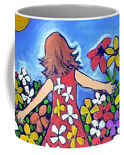 Coffee Mug featuring the painting Garden Of Joy by Winsome Gunning