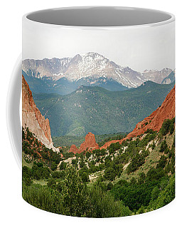 Coffee Mug featuring the photograph Garden Of The Gods Back Range by Marilyn Hunt
