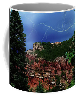 Coffee Mug featuring the digital art Garden Of The Gods by Chris Flees