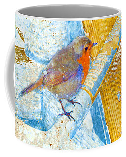 Coffee Mug featuring the photograph Garden Robin by LemonArt Photography
