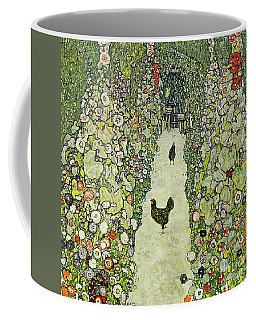 Garden With Chickens Coffee Mug