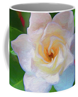 Gardenia 2 Painterly Coffee Mug