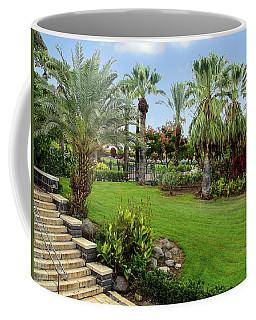 Gardens At Mount Of Beatitudes Israel Coffee Mug