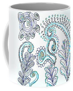 Coffee Mug featuring the drawing Gardens by Carole Brecht