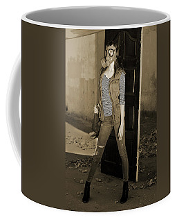 Gas Mask Girl  Coffee Mug