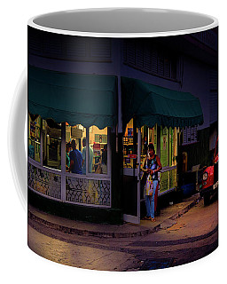 Coffee Mug featuring the photograph Gasolinera Linea Y Calle E Havana Cuba by Charles Harden