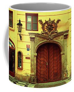 Coffee Mug featuring the photograph Gates Of Sun. Series Golden Prague by Jenny Rainbow