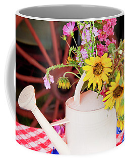 Gathered From The Trail Coffee Mug by Toni Hopper