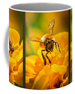 Gathering Pollen Triptych Coffee Mug