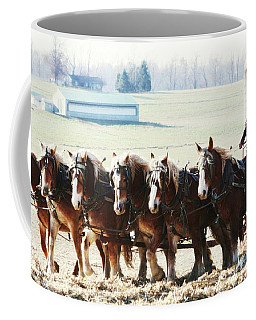 Gathering Up The Hay With A Six Horse Teamin Lancaster County Pennsylvania Coffee Mug