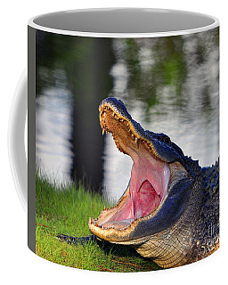 Coffee Mug featuring the photograph Gator Gullet by Al Powell Photography USA