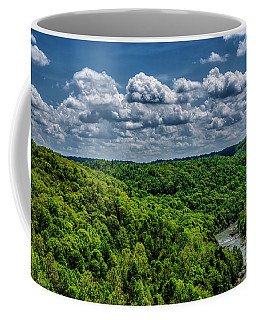 Coffee Mug featuring the photograph Gauley River Canyon And Clouds by Thomas R Fletcher