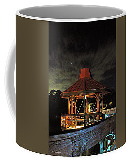 Coffee Mug featuring the photograph Gazebo At Night by Kay Lovingood