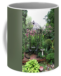 Coffee Mug featuring the photograph Gazebo In The Summer by Trina Ansel