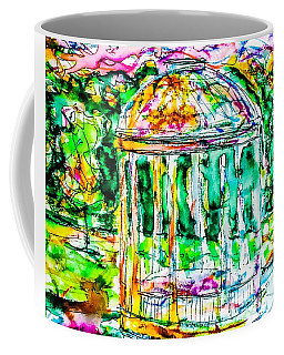Coffee Mug featuring the painting Gazebo Sunset by Monique Faella