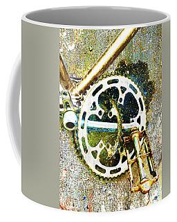 Coffee Mug featuring the mixed media Gear by Tony Rubino