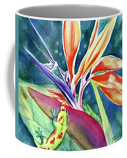 Gecko On Bird Of Paradise Coffee Mug