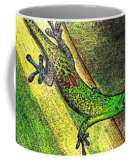 Gecko On The Green Coffee Mug