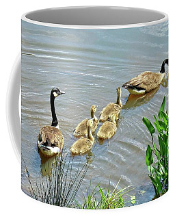 Geese And Goslings Coffee Mug
