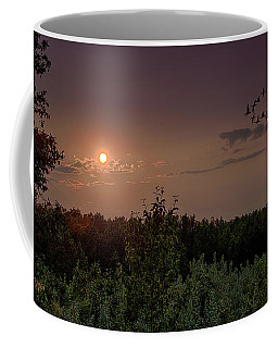 Geese In The Sunset Coffee Mug