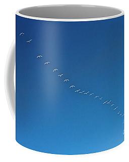 Geese On The Run Coffee Mug