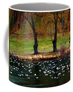 Geese Weeping Willows Coffee Mug