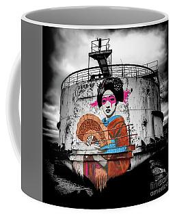Coffee Mug featuring the photograph Geisha Graffiti by Adrian Evans