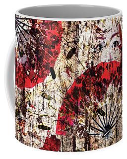 Geisha Grunge Coffee Mug