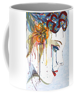 Geisha Soul Watercolor Painting Coffee Mug