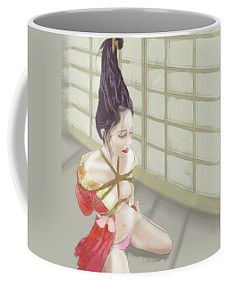 Coffee Mug featuring the mixed media Geisha by TortureLord Art