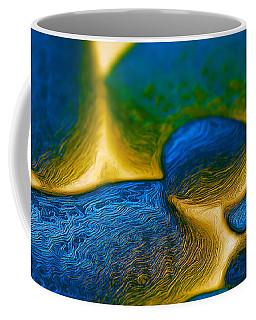 Coffee Mug featuring the digital art Gene Pool Blue by ISAW Company
