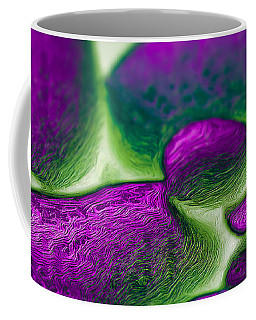 Coffee Mug featuring the digital art Gene Pool Purple by ISAW Company